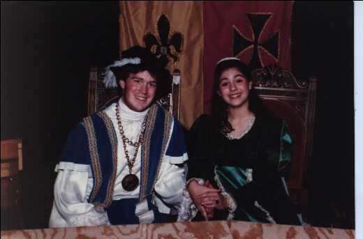 Bill and Megan, Madrigal Dinner.