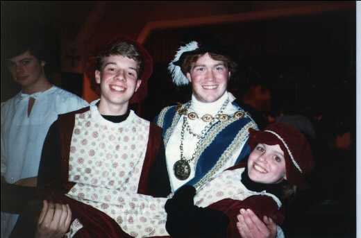 Nick, Bill, and Diane at the Madrigal Dinner.