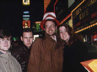New York at New Years. Scott and Bill and Pat and Wendy.